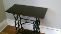 Converted Antique Sewing Table-PRICE DROP