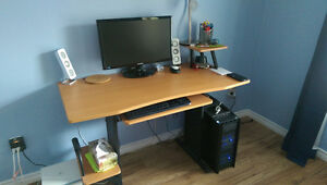 Computer Desk + Leather Chair