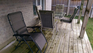 Patio Set - 1 table with 4 chairs, 1 recliner, 2 rotating chairs Kitchener / Waterloo Kitchener Area image 7