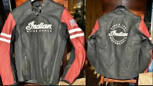 INDIAN MOTORCYCLE - Ladies leather moto jacket and 1/2 helmet