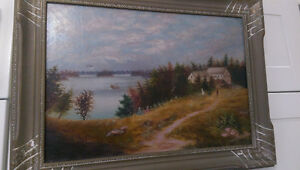 ANTIQUE OIL PAINTING SIGNED #1