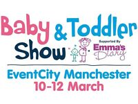 """Baby and toddler show tickets SAVE A THIRD OFF WITH PROMO CODE """"BA48"""""""