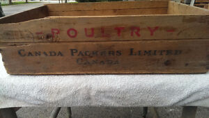Vintage Wooden Box Poultry Canada Packers Limited