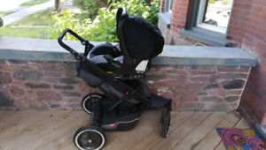 Phil and Teds double stroller buggy infant carseat attachment