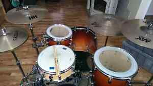 PDP FX Series Drums, Sabian Cymbals,  Hardware included