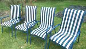 4 comfortable lawn patio chairs