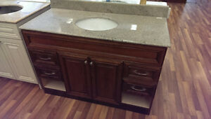 """Clearance 48"""" Vanity - All Solid Wood"""