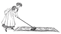 Cleaning Lady in Bridgetown.
