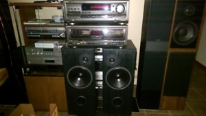 Acoustic Profiles PSL 7.5 speakers Technics receiver/CD changer