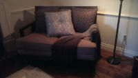 Contemporary love seat and matching chairs
