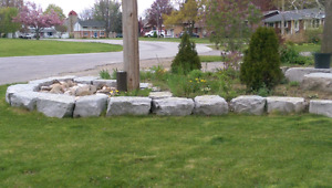Warm Weather means Work:  Armor Stone_Natural Stone_Armour Stone