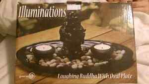 Candle stand (laughing Buddha)