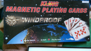 Kling magnetic playing cards windproof