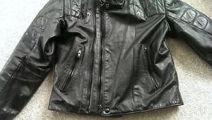 Men's Large Padded leather men's motorcycle jacket