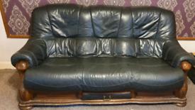 Faux leather 3 piece sofa set