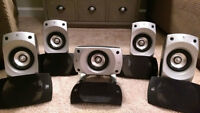 5 SPEAKERS FROM A LOGITECH Z5500 AUDIO SYSTEM 5.1