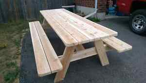 Cedar picnic table (built and ready for sale)