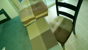 4 Seat Cushions & 4 Matching Placemats