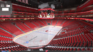 2 Detroit Red Wings Single Game Tickets - Sec M34 Row E
