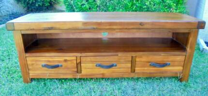 Wooden 3 Drawer TV Unit / Entertainment Unit / Coffee Table