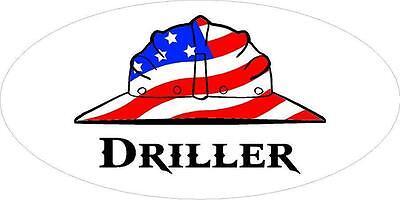 3 - Driller Us Flag Lunch Box Oilfield Hard Hat Toolbox Helmet Sticker H250