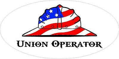 3 - Union Operator Us Flag Hard Hat Oilfield Toolbox Helmet Sticker H291