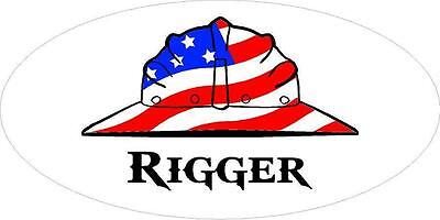 3 - Rigger Us Flag Hard Hat Union Crane Oilfield Toolbox Helmet Sticker H280