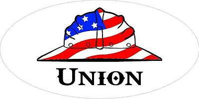 3 - Union Us Flag Hard Hat Laborer Oilfield Toolbox Helmet Sticker H283