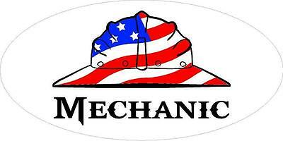 3 - Mechanic Us Flag Hard Hat Hand Union Oilfield Toolbox Helmet Sticker H287
