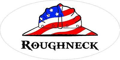 3 - Roughneck Us Flag Hard Hat Union Oilfield Toolbox Helmet Sticker H267