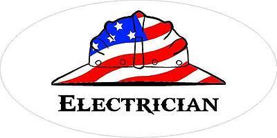 3 - Electrician Us Flag Hard Hat Lunch Box Oilfield Toolbox Helmet Sticker H255