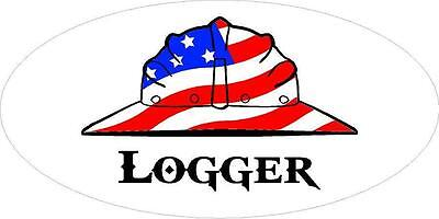 3 - Logger Us Flag Hard Hat Hand Union Toolbox Helmet Sticker H262