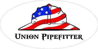 3 - Union Pipefitter Us Flag Hard Hat Oilfield Toolbox Helmet Sticker H271