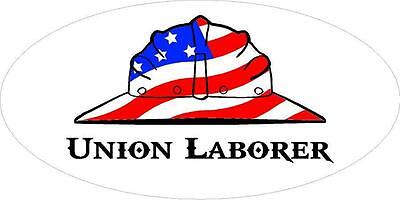 3 - Union Laborer Us Flag Hard Hat Oilfield Toolbox Helmet Sticker H249