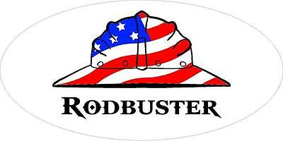 3   Rodbuster Us Flag Hard Hat Union Concrete Toolbox Helmet Sticker H241