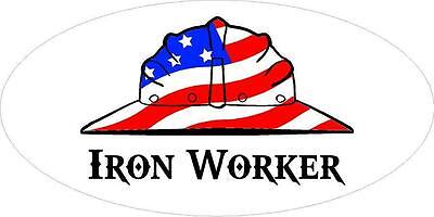 3 - Iron Worker Us Flag Hard Hat Welder Oilfield Toolbox Helmet Sticker H261