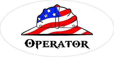 3 - Operator Us Flag Hard Hat Union Oilfield Toolbox Helmet Sticker H247