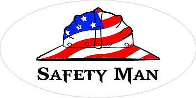 3 - Safety Man Us Flag Hard Hat Union Oilfield Toolbox Helmet Sticker H266