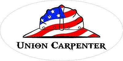 3 - Union Carpenter Us Flag Hard Hat Oilfield Toolbox Helmet Sticker H265