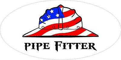 3 - Pipefitter Us Flag Hard Hat Union Oilfield Toolbox Helmet Sticker H276