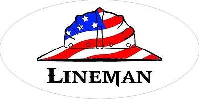 3 - Lineman Us Flag Hard Hat Hand Union Oilfield Toolbox Helmet Sticker H242