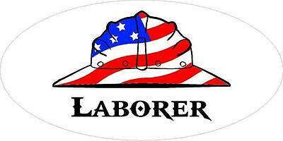 3 - Laborer Us Flag Hard Hat Hand Union Oilfield Toolbox Helmet Sticker H274