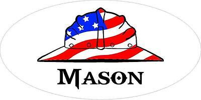 3 - Mason Us Flag Hard Hat Hand Union Toolbox Helmet Sticker H2236