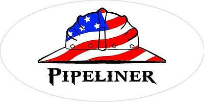 3 - Pipeliner Us Flag Hard Hat Union Welder Oilfield Toolbox Helmet Sticker H244