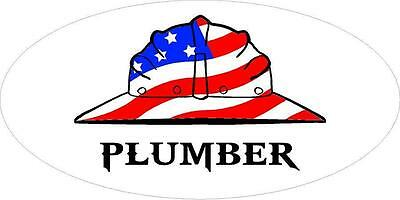3 - Plumber Us Flag Hard Hat Union Oilfield Toolbox Helmet Sticker H239