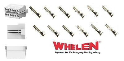Whelen Liberty Board Light Bar 12 Pin Kit Rear Accessory Connector 12 Sockets