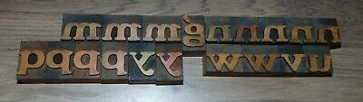 19 1 Wood Letterpress Printing Blocks Type Lower Case Alphabet