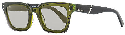 Diesel Rectangular Sunglasses DL0231 95Q Transparent Green/Black 51mm (Shades Diesel)