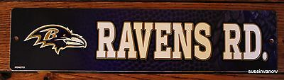 New Plastic Street Sign Baltimore Ravens Ave NFL Football League Door Room - Baltimore Ravens Room Decor