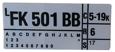 1975 Lincoln 460 Engine Code Decal